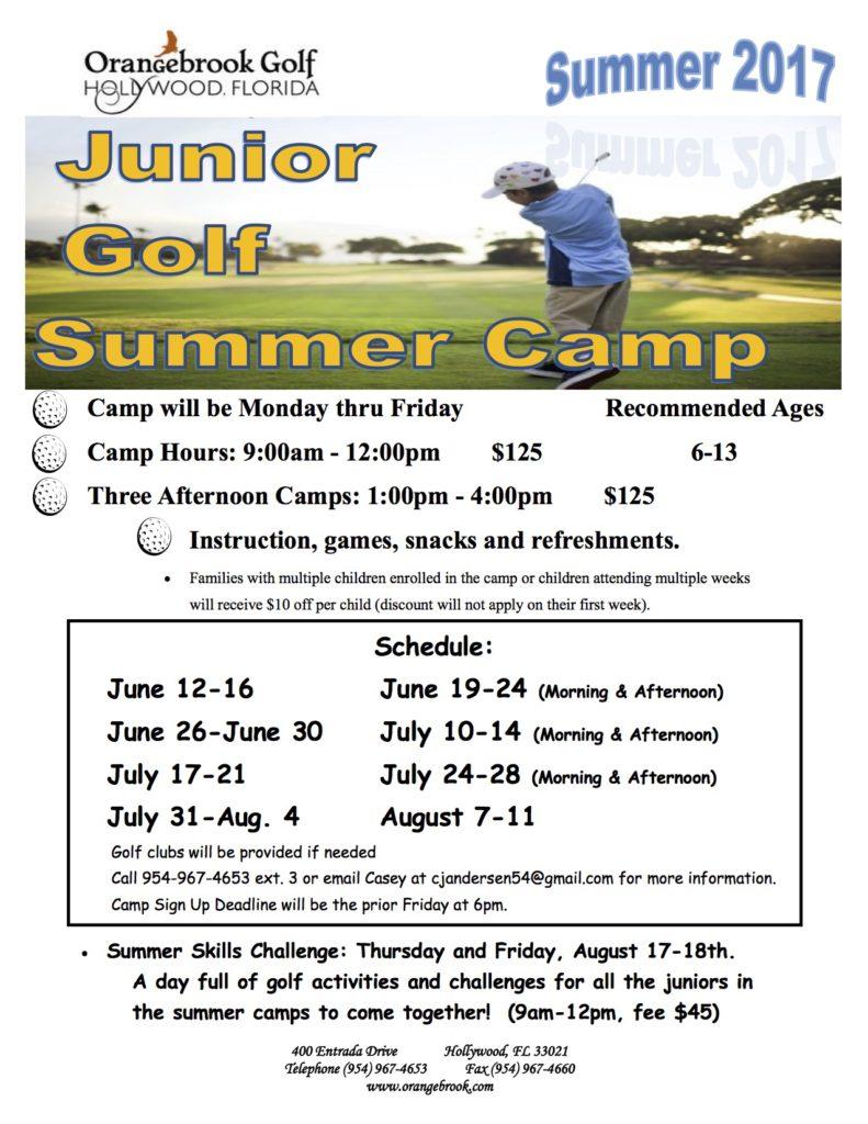 Junior Programs | Orangebrook Golf & Country Club